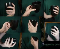 Hand Pose Stock - Holding Mug by Melyssah6-Stock