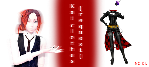 [MMD] Kai clothes (request preview) - NO DL by JoanAgnes