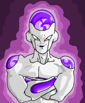 Frieza Standing Tall Victoriously by Metalhead211