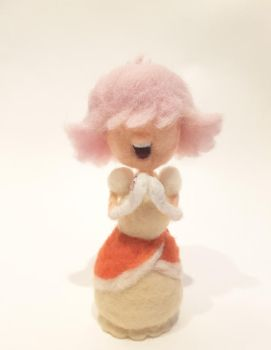 Padparadscha Sapphire Plushie by feltgood