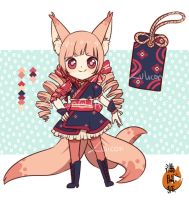 [CLOSED] Mankaigitsune 1 - ADOPTABLE AUCTION by Lulicon