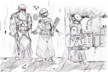 Helghast troopers by champain69