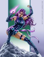 Commission Psylocke Color by ArcosArt