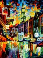 Belgium Brussels by Leonid Afremov by Leonidafremov