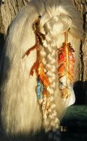 Phoenix Rising Fantasy Leather Feather Hair Set by Arexandria