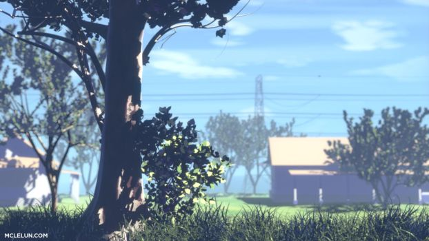anime background 3d render by mclelun