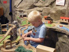 Nephew with Trains, pt. 2 by Arkylie