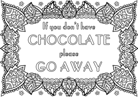 Free Colouring Page - Chocolate! by WelshPixie