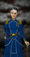 The Captain of the Airship Defiance by JesIdres