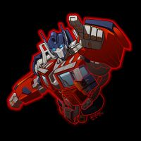 Optimus Prime 'digitized' by REX-203
