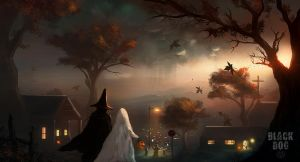 Black Dog - Trick r' Treat by dustycrosley