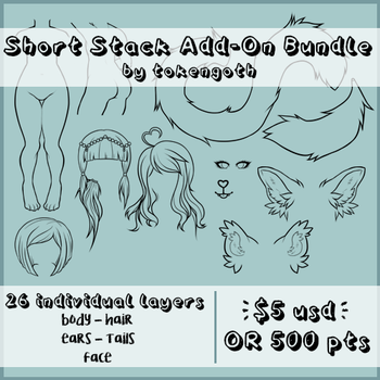 Waitress Short Stack Creator Add-On Pack by tokengoth