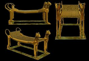 Egyptian Series: Tomb Couch by Sheona-Stock