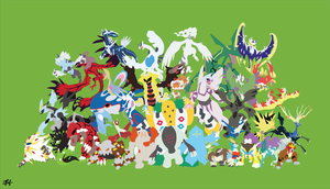 All Legendary Pokemon Minimalist Wallpaper by slezzy7