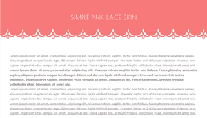 [FREE] Simple Pink Lace Journal Skin by kiyasuriin