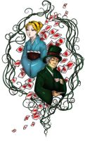 Commission- Alice and Hatter tattoo by Lilith-the-5th