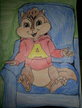Alvin Seville sitting.  by allieseville1