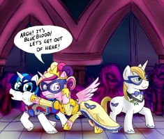 EqDTG II - 27 - Pony attending a masquerade by Fadri