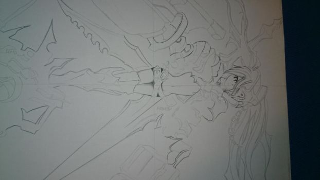Insane Black Rock Shooter Incomplete Drawing by BOSS-ARTWORK
