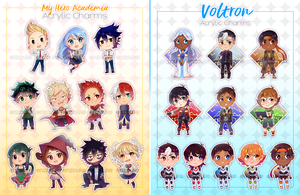 My Hero Academia and Voltron (Keychains) by enzouke