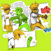 Dirk: Play punchies with Jake by Ellinor87