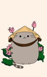 :Gift: Farmer Pusheen by pansy88