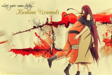 Naruto and Kushina by jellybreaker