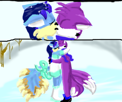 Ice foxes by shadowstartigs