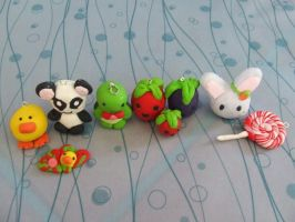Little Polymer Clay Models by Strawberry-Crepe