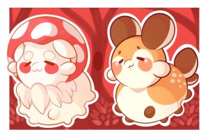 Forest Stickers by Milkynan