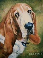 nothing but a Hound Dog - OIL Painting by AstridBruning
