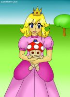 Princess Peach and Toad Doll by mashashy