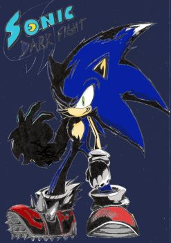 Sonic Dark Fight by Auroblaze