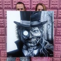Dr. Jekyll og Mr. Hyde oil painting by AtomiccircuS