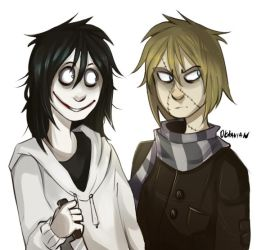   Creepypasta Fanart  I'm not done with those two by 0ktavian