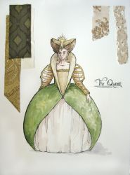 The Queen- rendering by lachwen