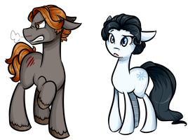 The wolf among us Ponies by theluckyangel