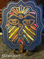 Rainbow Eyes of Buddha with Sparkles by AliDee33