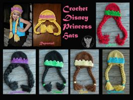 Crochet Princess Hats by TheCrochetDragon