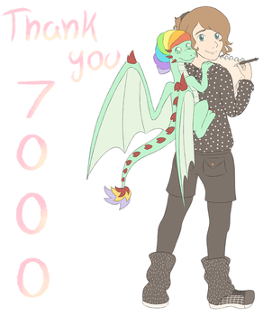 Thank you for 7000 Pageviews by Dragon-RainbowBeanie