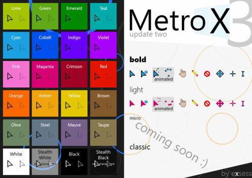 Metro X3 Cursors (Update Two) by exsess