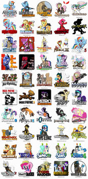 More Ponified Game Icons by fancycat2008