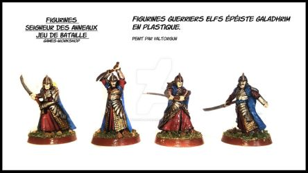Figurines Warriors Elfs swordsman Galadhrim by Valtorgun-le-Grand
