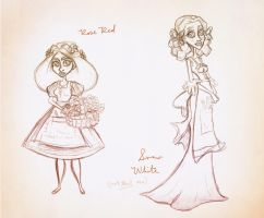 Snow White and Rose Red by Ceydran