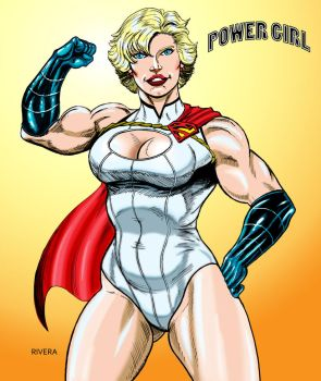 More Power Girl by lenlenlen1