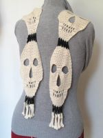 Scary Skull Scarf by Judescreations