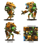 Lowpoly Alien Mech-suit thing by KennethFejer