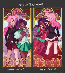 Magical Girl Nouveau: Utena Bookmarks by Vivifx