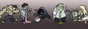 Cute Left 4 Dead Zombies by eisu