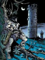 CONAN AND THE TOWER color by benitogallego